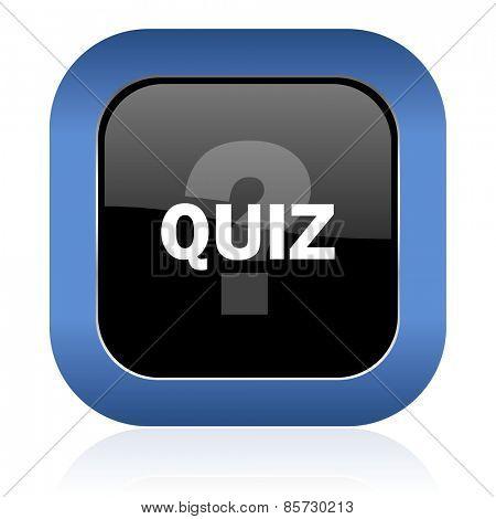 quiz square glossy icon