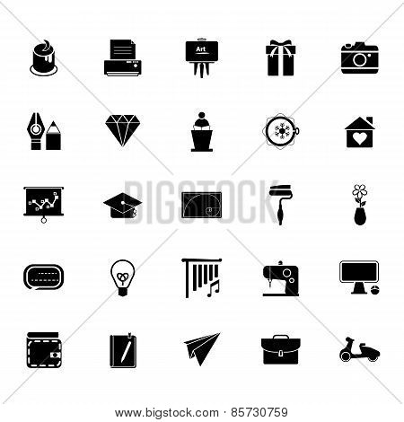 Art And Creation Icons On White Background