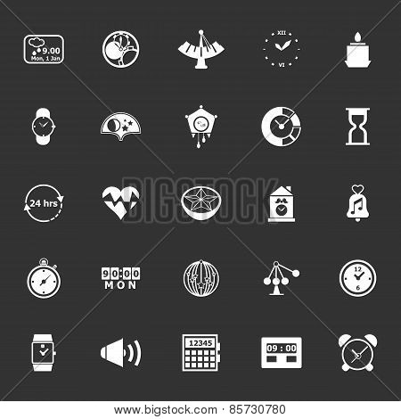 Design Time Icons On Gray Background