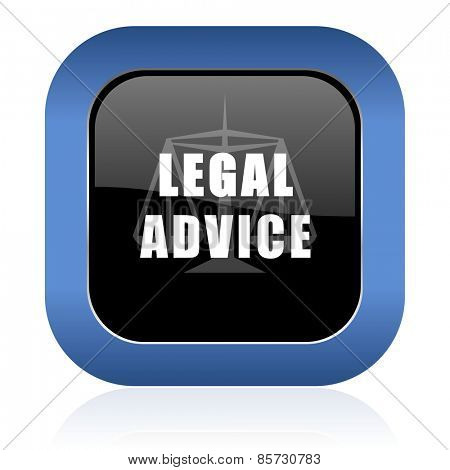legal advice square glossy icon law sign