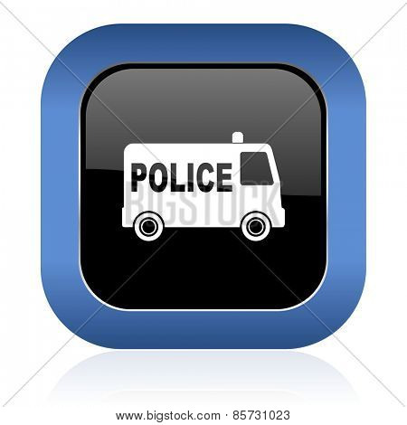 police square glossy icon