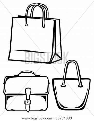 Paper bag and handbag