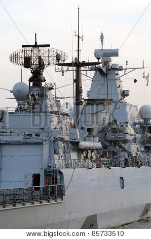 Battleship Docking In Istanbul