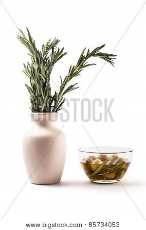 Rosemary and olives