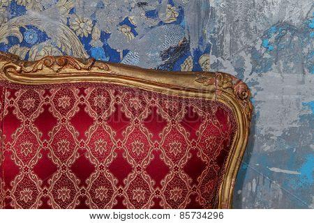 Old Abandoned Vintage Interior Element