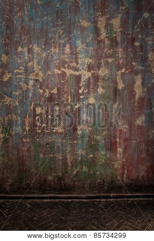 Old Grunge Interior Wall And Floor