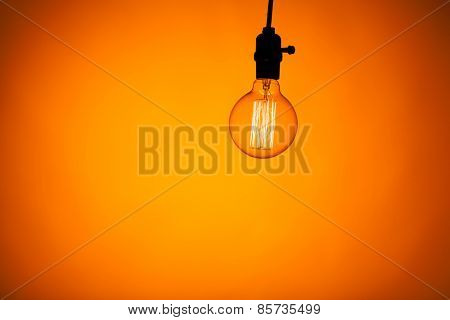 bulb lamp with warm light background