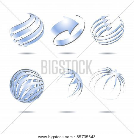 Abstract sphere icons collection