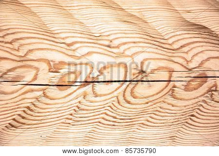 Wooden Background With Knot, Close Up View