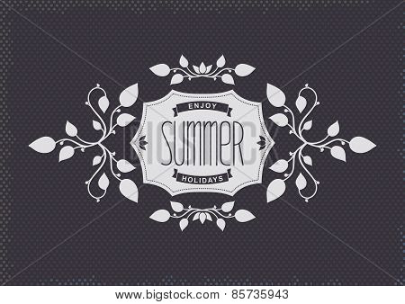 Summer vintage label