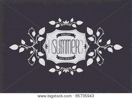 Summer vintage label