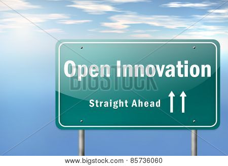 Highway Signpost Open Innovation
