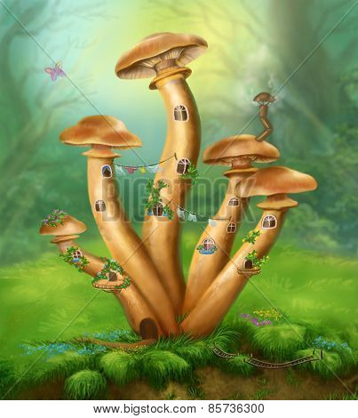 Fantasy Mushrooms honey agarics the house