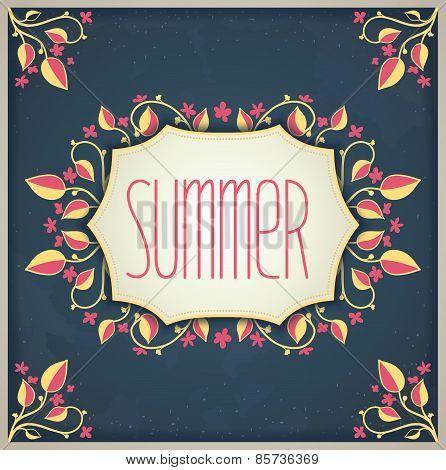 Retro provence summer card