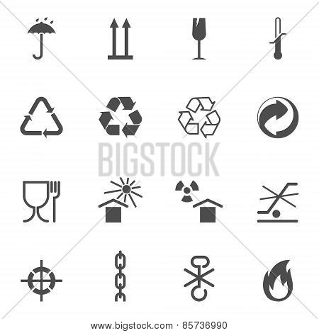 Packing and logistic vector isolated icons