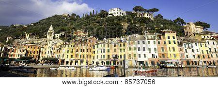 Portofino panorama. Color image