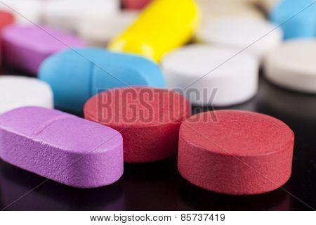 Colorful Pills Macro