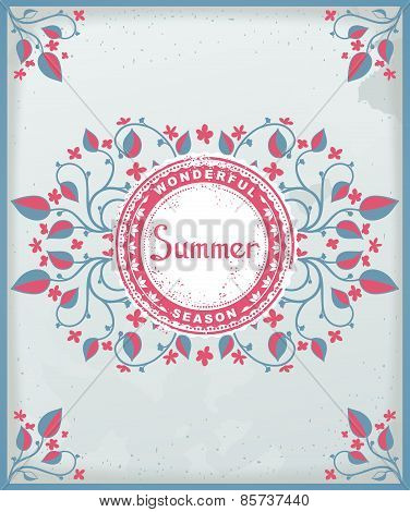 Provence style summer card