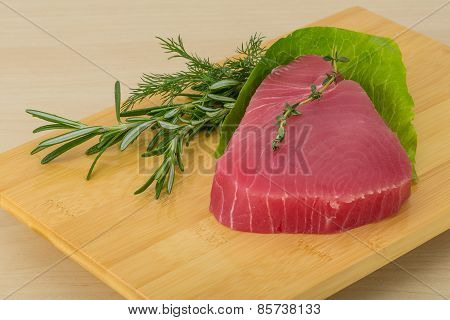 Raw Tuna Steak