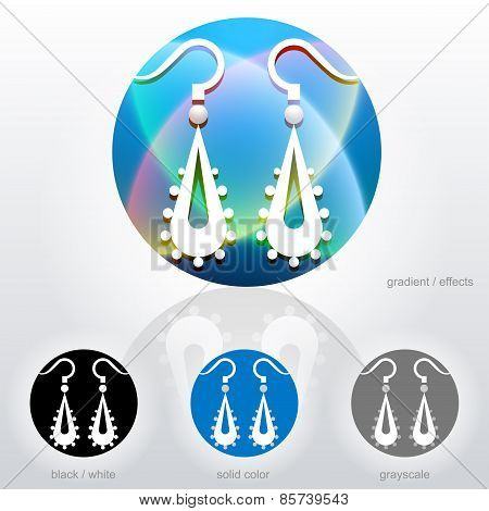 Stylized Sign Of Dangle Earrings