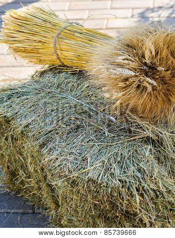 a sheaf of hay