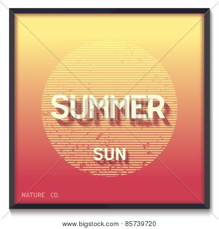 Conceptual summer poster