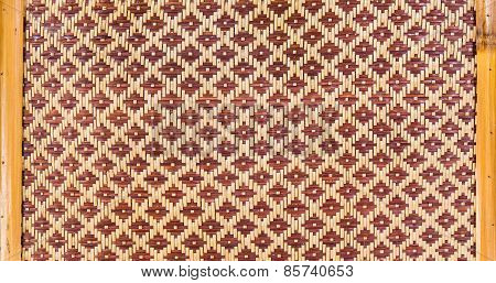 Texture Of Woven Bamboo Pattern