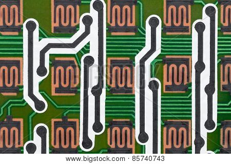 Computer circuit board. Background.