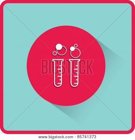 flat test tube icon