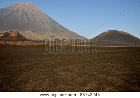 Field And Volcano