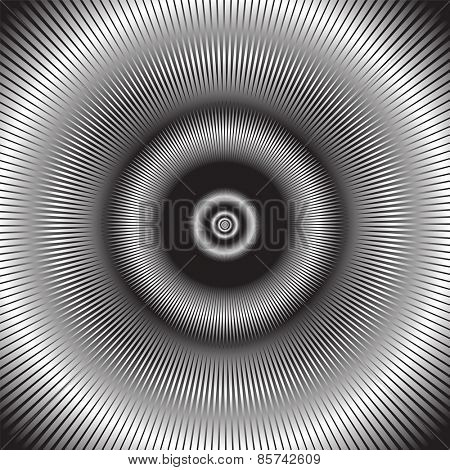 Abstract radiation. Vector illustration.