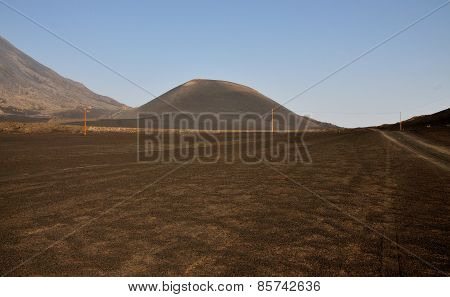 Traversing Field And Volcano