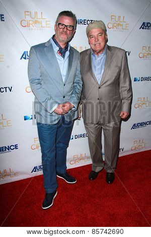 LOS ANGELES - MAR 16:  Nick Hamm, Stacy Keach at the DirecTV's
