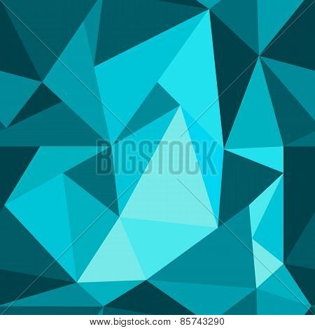Blue Abstract Background Polygon