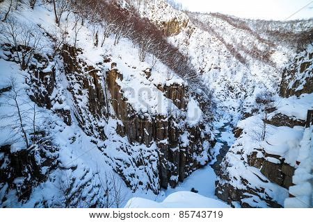 Steep River Canyon in the Caucasus