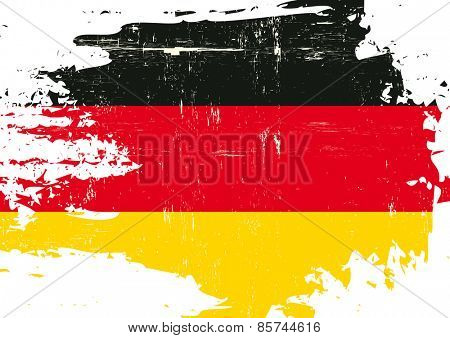 Scratched german Flag. A flag of Germany with a grunge texture