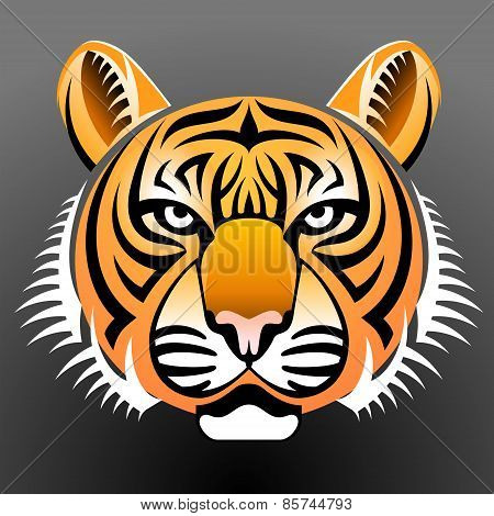 Realistic Tiger's Face
