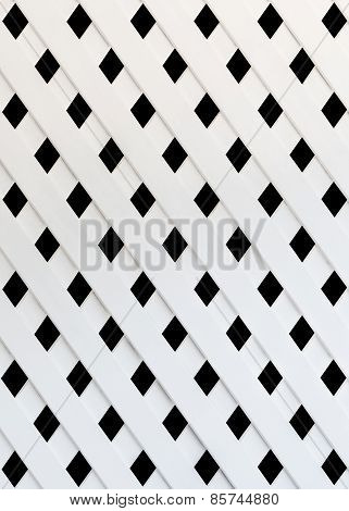 Texture Of White Slat Wall