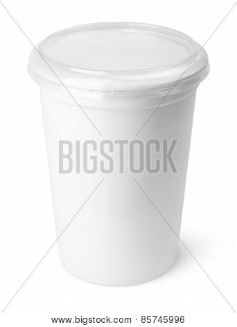 Plastic Container For Dairy Foods With Transparent Lid