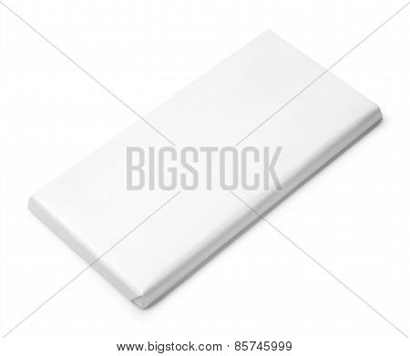 Chocolate Bar White Blank Package Template
