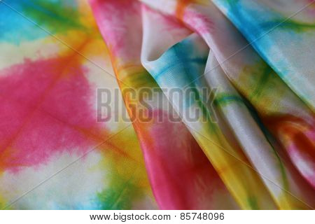 Silk background in vibrant colors of the summer.
