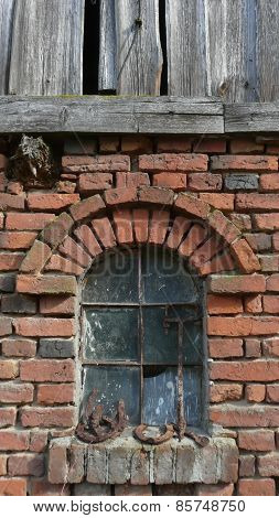 Old Red brick Window