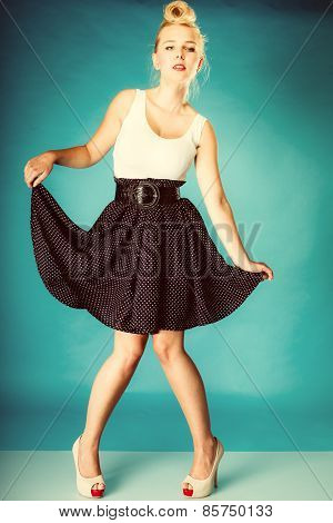 Pin Up Girl Retro Style.