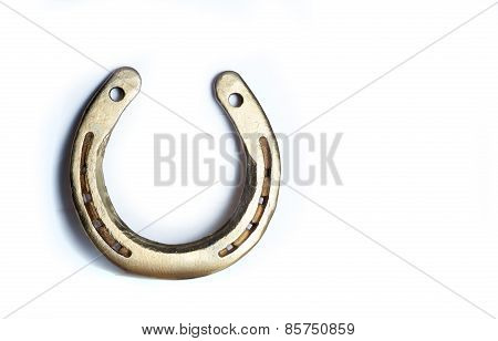Golden Horseshoe Isolated On White
