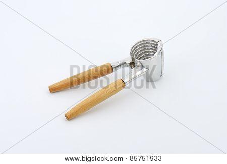 empty nutcracker on white background