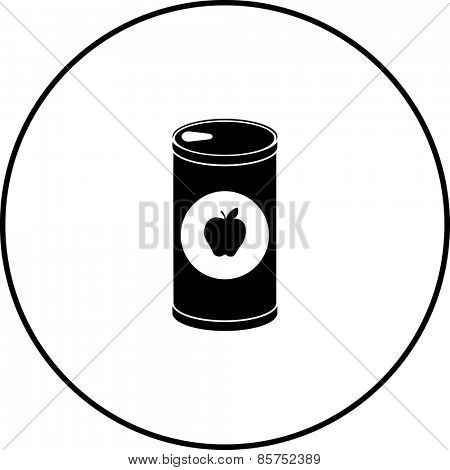 small apple juice bottle symbol