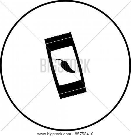jalapeno sauce sachet symbol