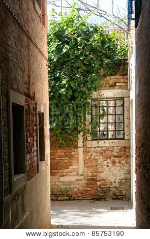 Old Alleyway In Venice Italy