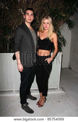 LOS ANGELES - MAR 12:  Nick Simmons, Rebecca Szulc at the Kode Magazine Spring 2015 Cover Party at the The Standard on March 12, 2015 in West Hollywood, CA