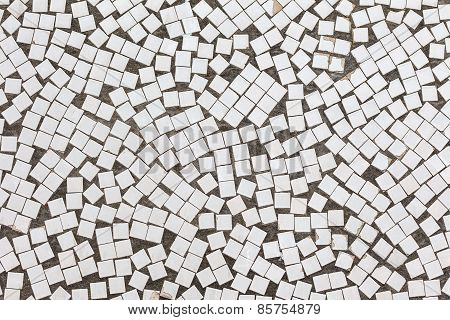 Abstract Background White Glossy Tiles Lining The Walls Of The Building